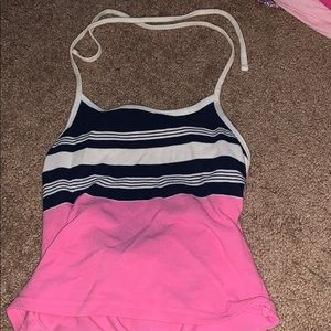 Hollister pink halter top